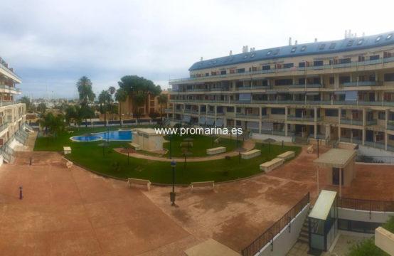 PRO1813A<br>Alquiler anual de apartamento en preciosa urbanización cerca de la playa