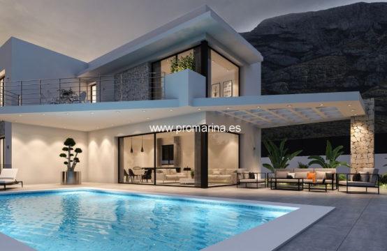 PRO2369<br>Villa nouvellement construite avec d&#8217;excellentes qualités disponibles à Denia.